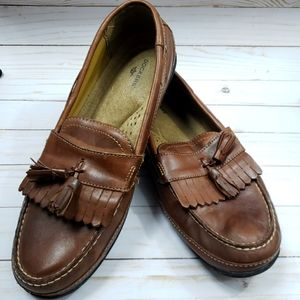 Dockers Leather slip on dress loafers brown